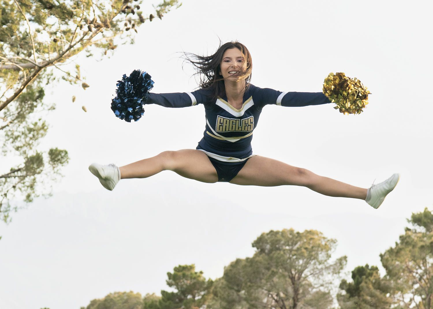 Nadiah Orozco Cheer jumping splits by Bruce Montgomery