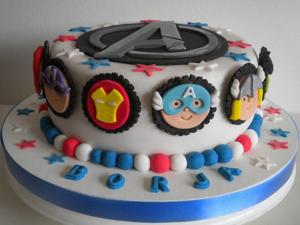 torta de los vengadores con crema - Buscar con Google