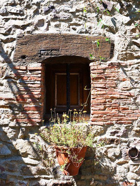 Quaint little window (Saint Suzanne, France)