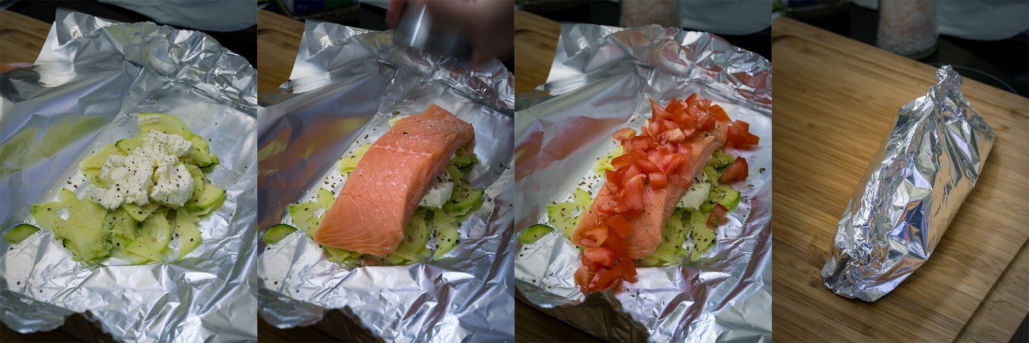 Lachs-Zucchini-Tomaten-Schiffchen vom Grill › Ofengeflüster