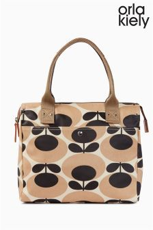 dc99271961a Nude Orla Kiely Giant Oval Stem Print Zip Messenger   Bags and ...