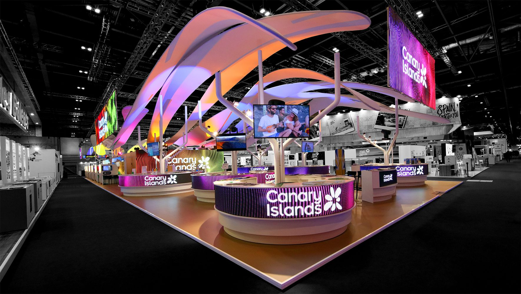 #standdesign awarded by #worldexhibitionstandawards + #wtmlondon + #fitur and built in #ifema #madrid + #excellondon + #messeberlin #thistooshallpass  #escatoint  #ged2020