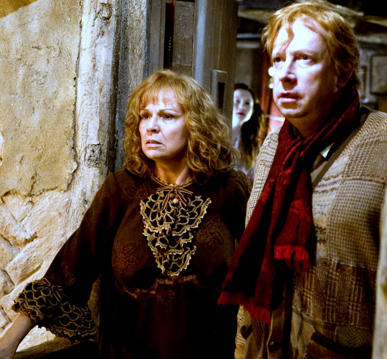 Molly And Arthur Weasley Harry Potter Filme Quadribol Hogwarts