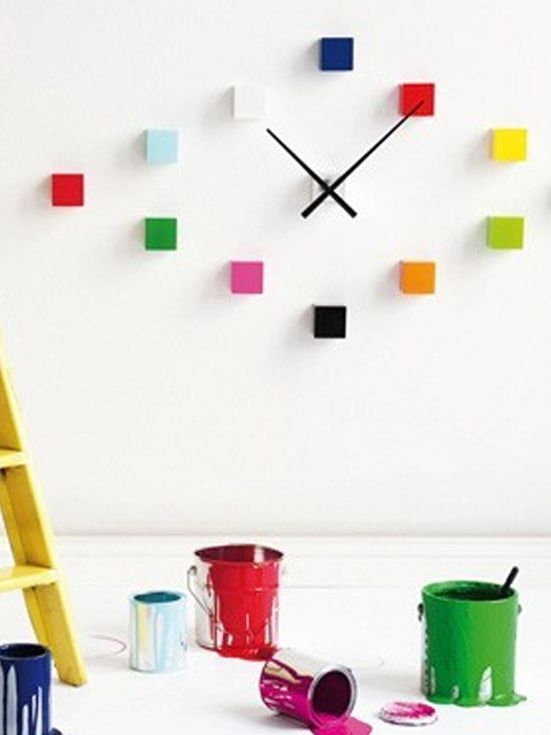 Do it yourself cubic wallclock from Karlsson Decopulse
