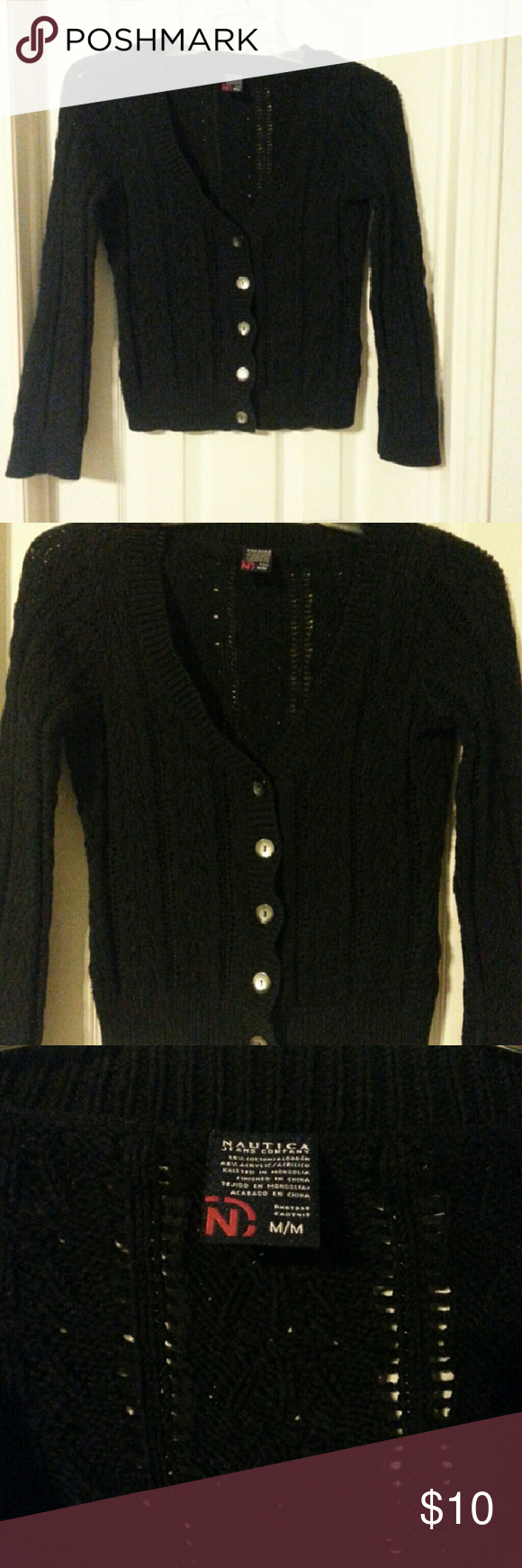 Black Cardigan | Cable knit cardigan, Black button and Solid black
