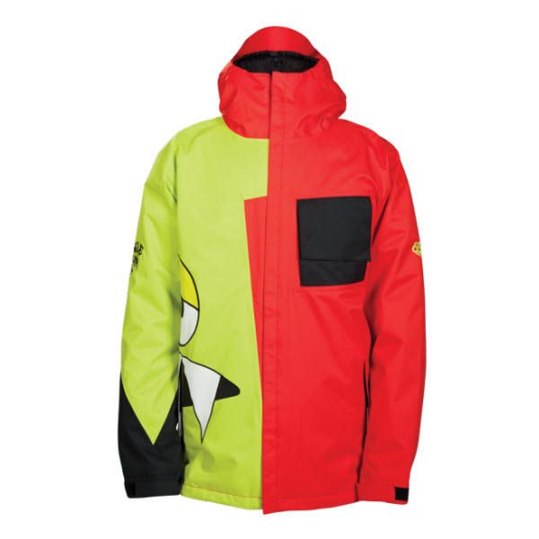 686 SNAGGLEFACE II 2 MENS INSULATED SNOWBOARD JACKET CHILI The Snaggletooth Returns For 2014 In This