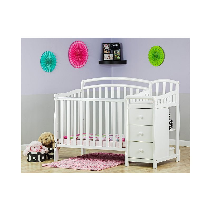 Dream On Me Casco 4 In 1 Convertible Mini Crib Set White Mini Crib Crib With Changing Table Cribs
