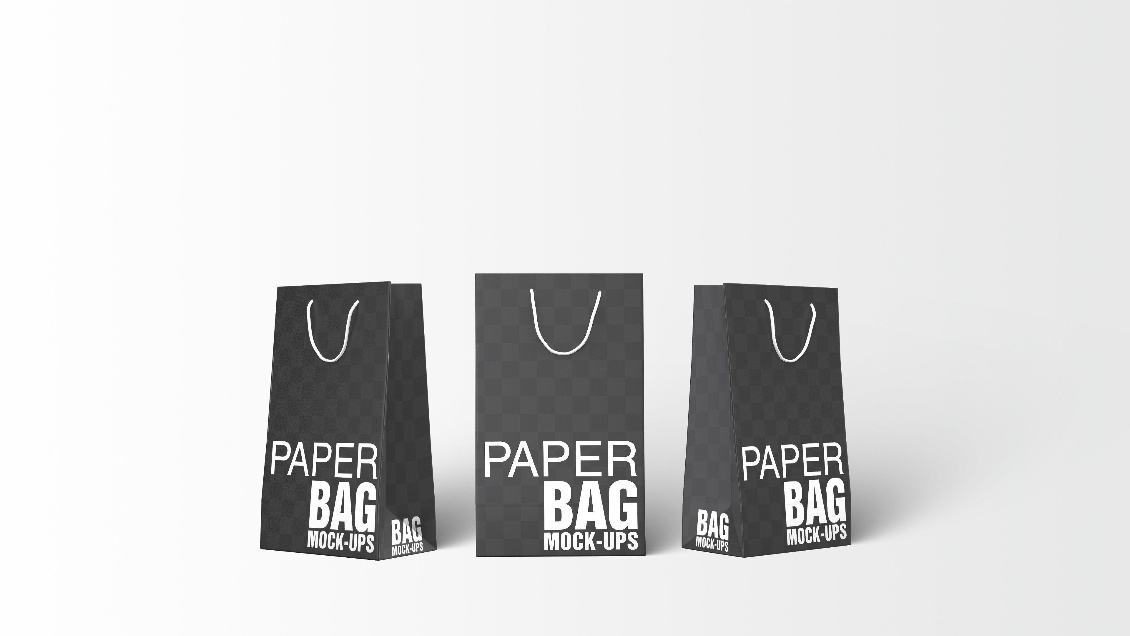12278+ Paper Bag Landscape Mockup Packaging Mockups PSD