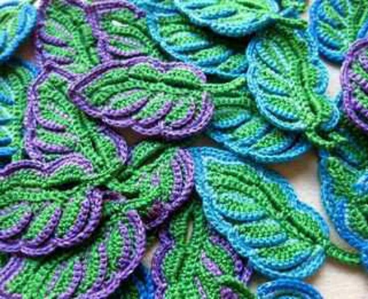 crochet leafs                                                                                                                                                      More