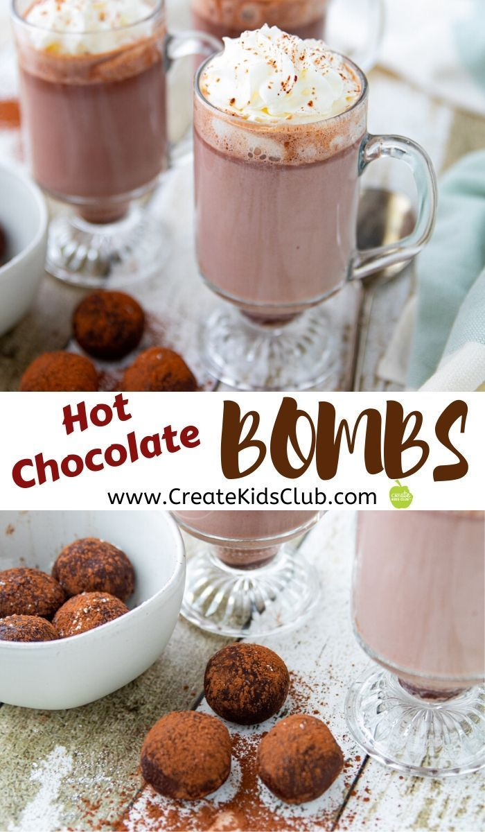 Hot Chocolate BOMBS Drink recipes nonalcoholic, Hot