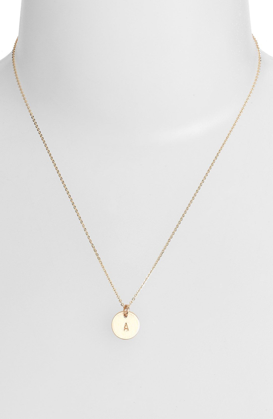 cafed99da Nashelle 14k-Gold Fill Initial Mini Circle Necklace   All I want for ...