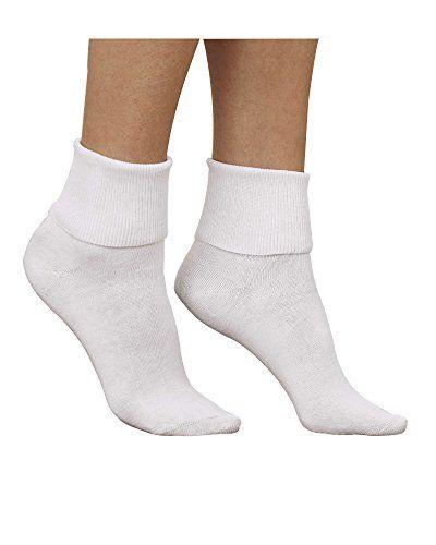 National Comfort Plus Cotton Socks, White, 8, 3-pk