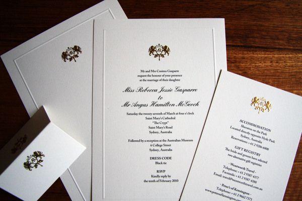 Gold Embossed Wedding Invitations: Foil Embossed Wedding Invitation