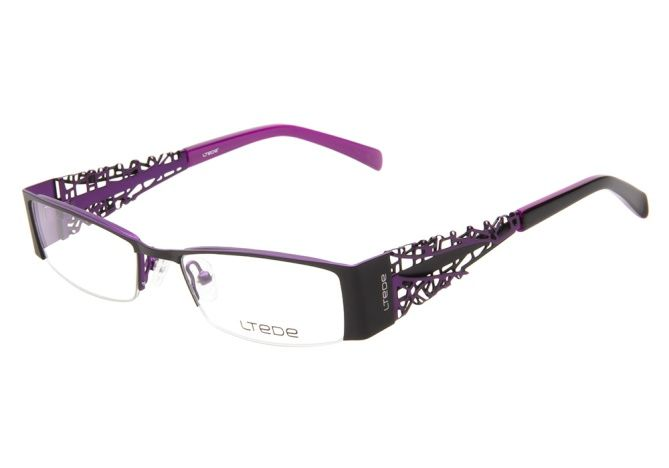 Ltede 1024 Black Purple | Ltede Glasses - ClearlyContacts.ca
