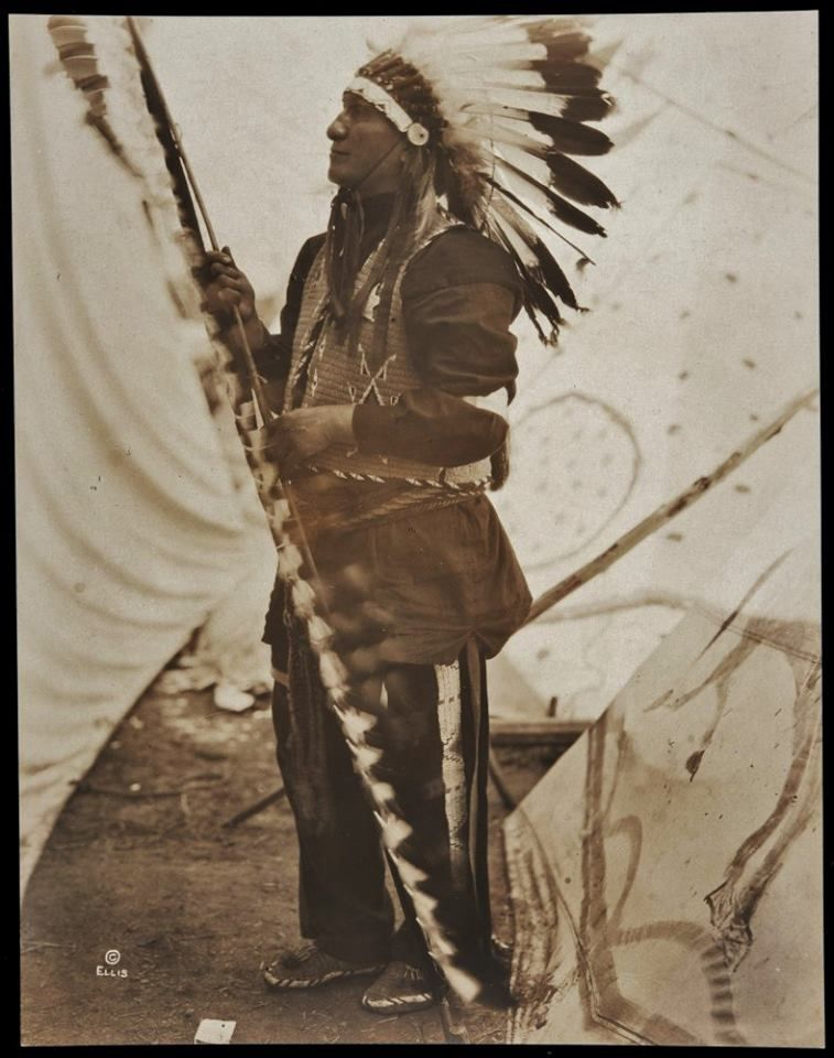7bf29c104 Sungila Sapa (aka Black Fox, aka Joseph Black Fox), as a paid employee of  the Miller Brother's 101 Ranch Real Wild West Show - Oglala - circa 1913