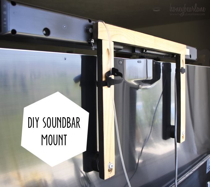 Diy Soundbar Mount Techoration Diy Soundbar Bars