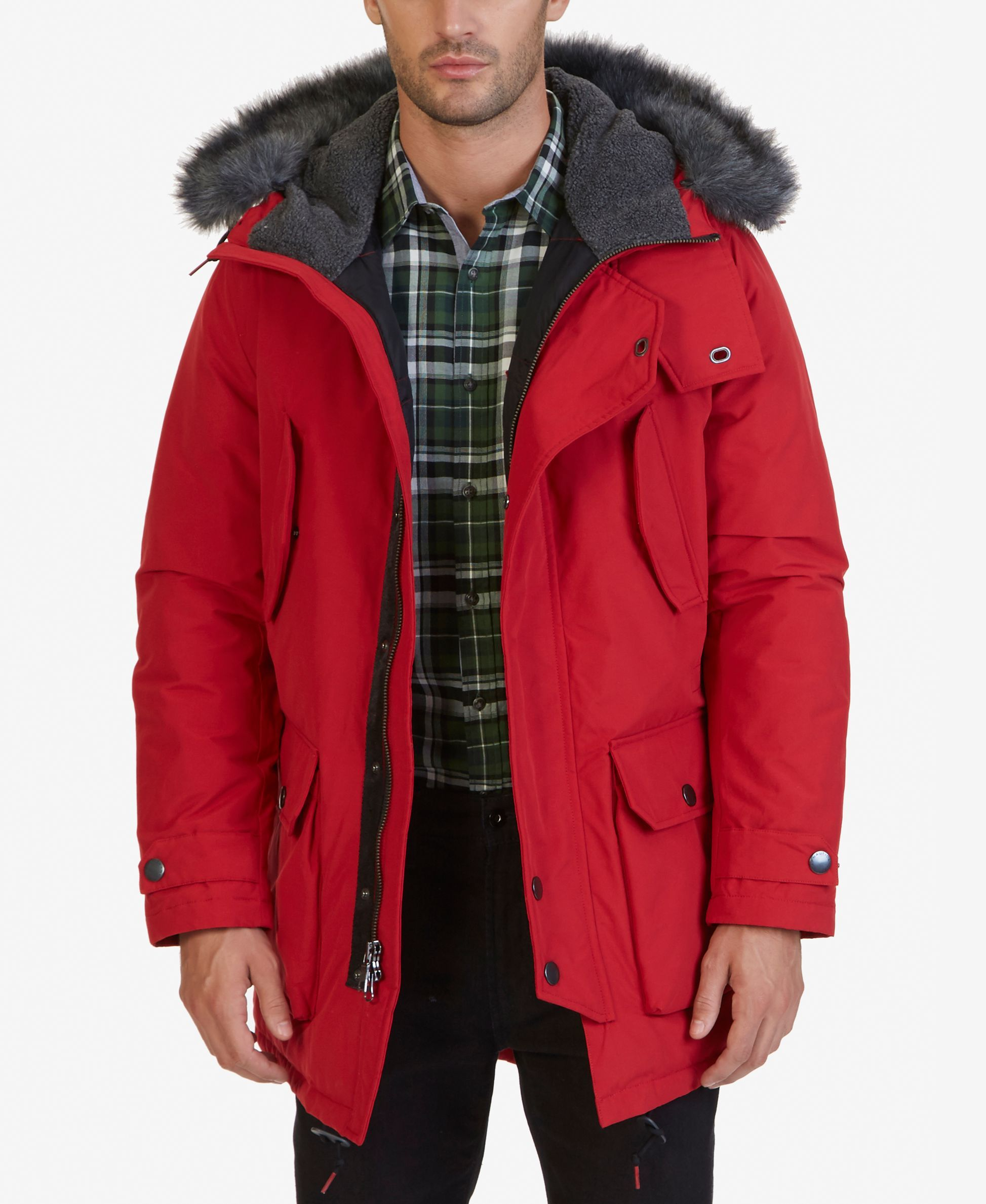 Nautica Men S Faux Fur Quilted Parka Hooded Parka Jacket Quilted Parka Parka Jacket [ 2378 x 1947 Pixel ]