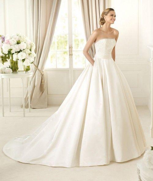 imagenes y fotos vestidos de novia elegantes corte princesa