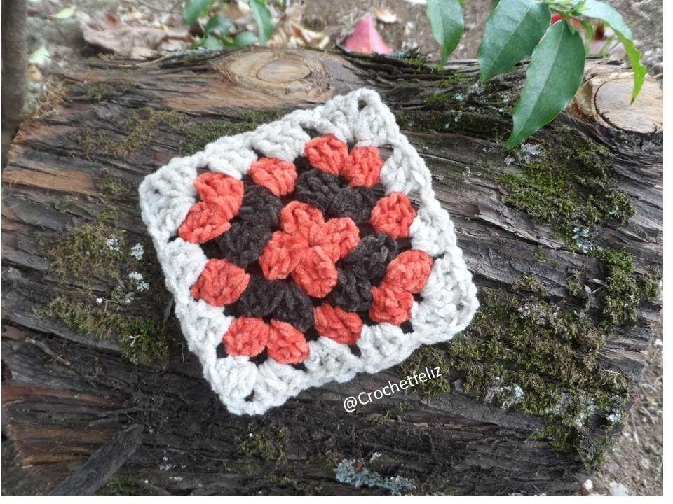 Cómo hacer un cuadrado a Crochet. El Patrón más fácil | Cuadrados ...