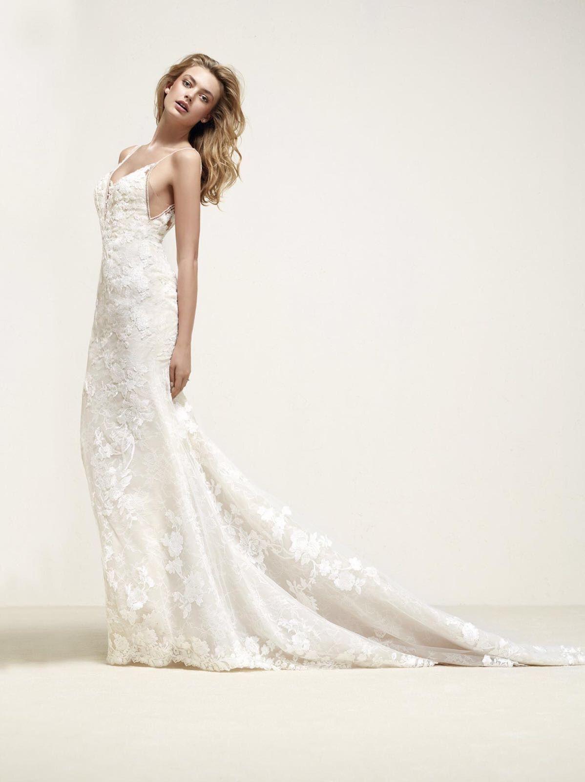 478b3418776c Drift: Suknia ślubna z koronki, która gra główną rolę - Pronovias