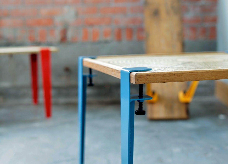 THE FLOYD LEG Des pieds à installer pour transformer toute planche en table ou bureau !