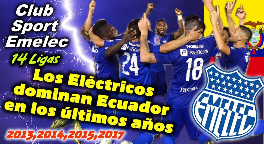El Club Sport Emelec es uno de los clubes más exitosos y