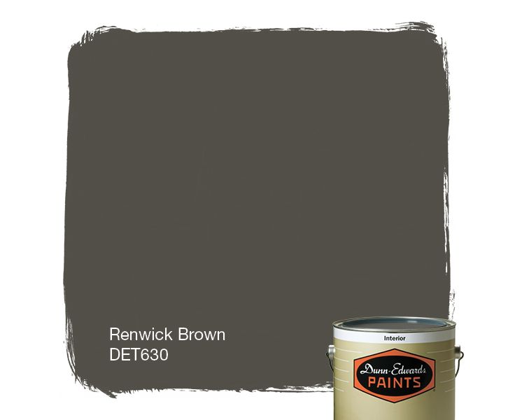 Dunn-Edwards Paints paint color: Renwick Brown DET630 | Click for a free color sample #DunnEdwards