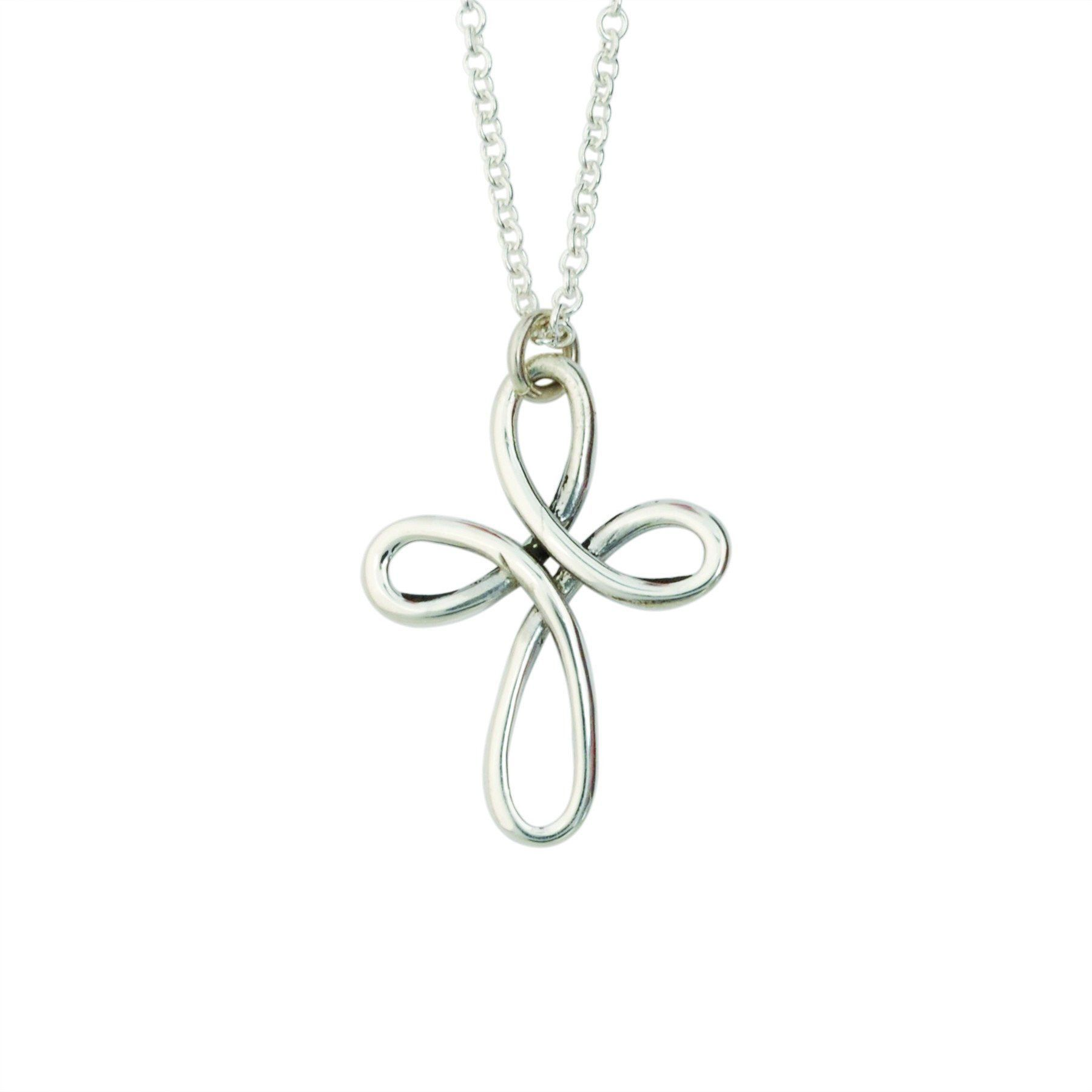 Handcrafted Sterling Silver Cross Necklace | Twisted Wire Cross ...