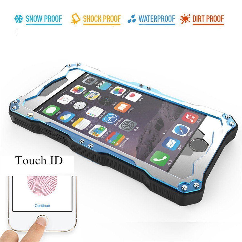 Iphone 6 6s 4 7 Wasserdichte Hulle Aluminum Metal Ip68 Stossfeste Schnee Verteidigung Wasserdichtes St Waterproof Phone Case Phone Iphone Cases
