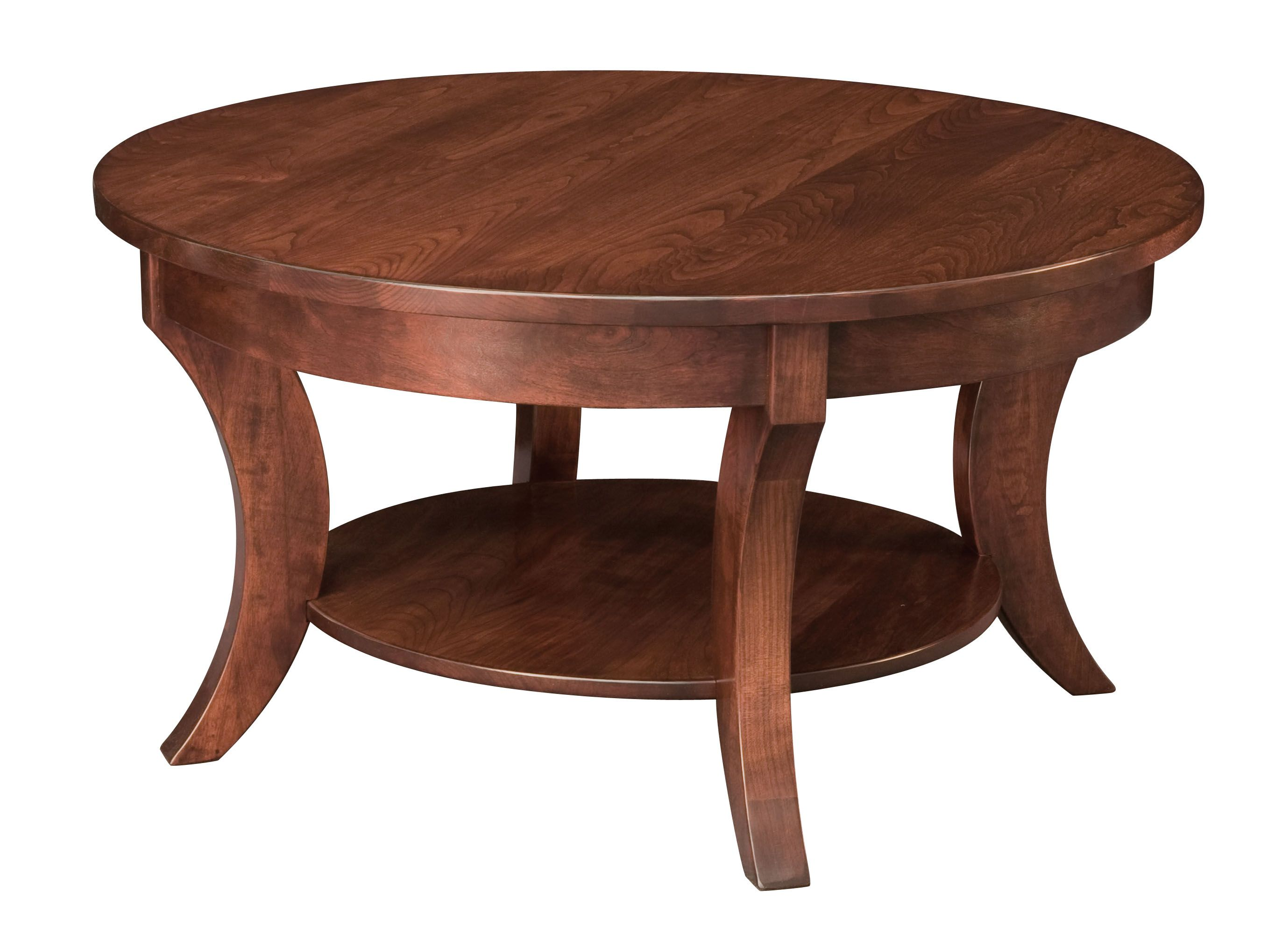 - Madison Round Coffee Table Round Coffee Table, Cherry Coffee