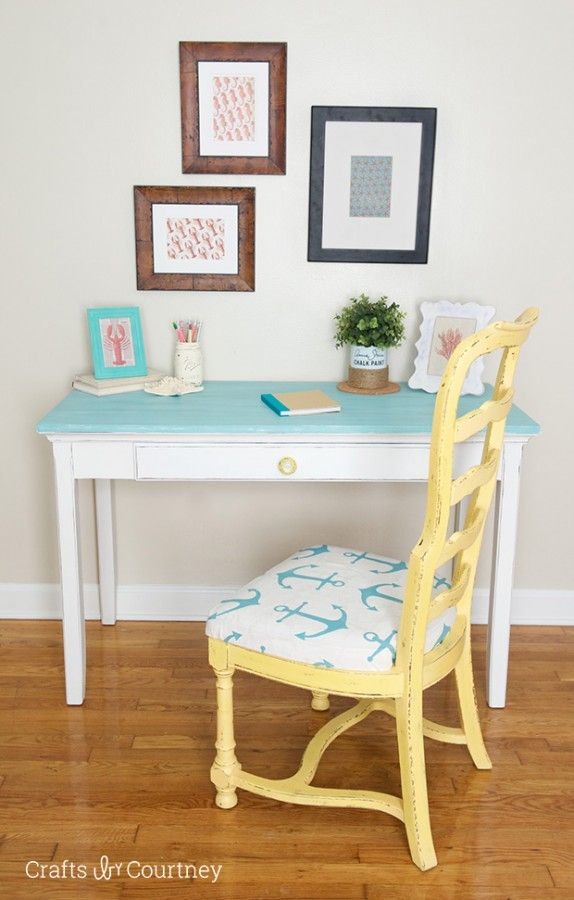 Annie Sloan Chalk Paint® Desk Makeover submitted to InspirationDIY.com
