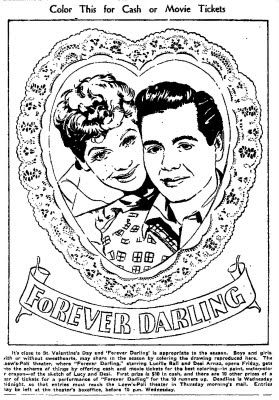 Forever Darling Coloring Contest 1956 Coloring Contest Love