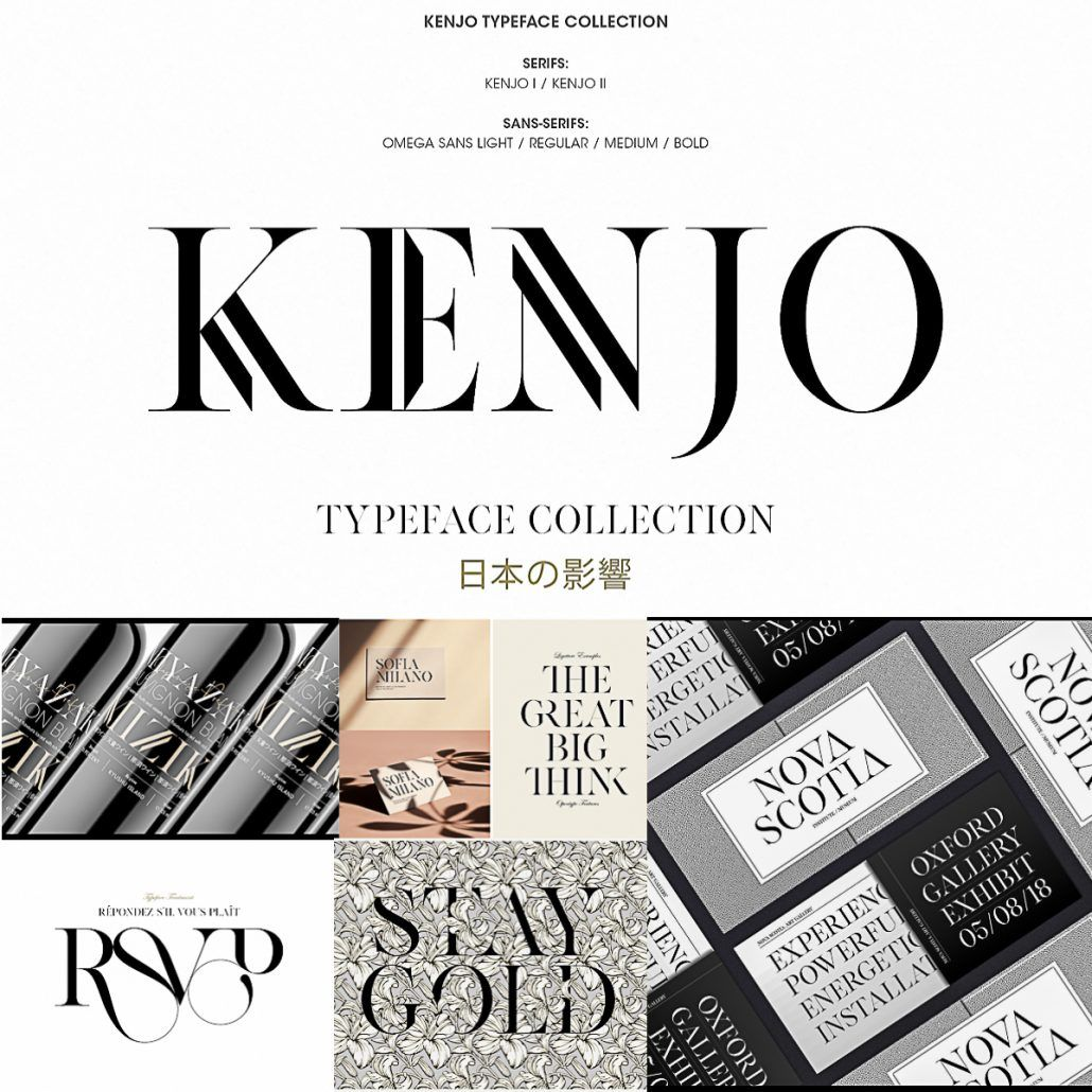 Kenjo Fonts | FONTS for FREE! | Free fonts download, Fonts