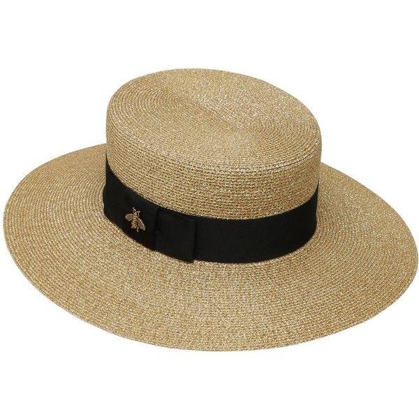 Gucci Women Woven Straw Lurex Hat (1 686b2f0b125
