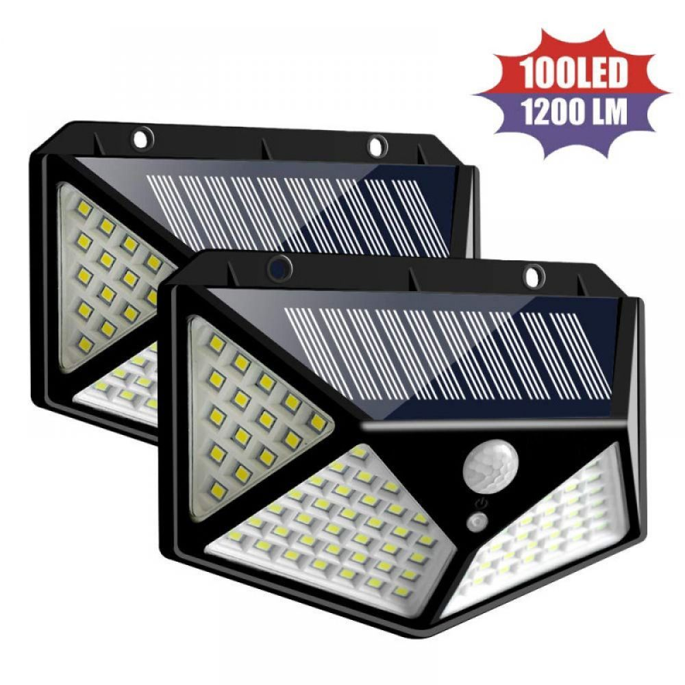 100 Led Luz Solar Lámpara Solar Exterior Pir Sensor De Movimiento Luz De Pared Impermeable Solar P Solar Wall Lights Outdoor Solar Lamps Outdoor Solar Lights