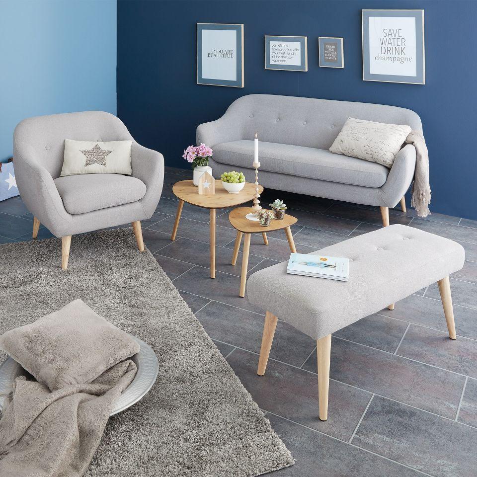 Sitzbank Egedal (gepolstert, grau)   Wohnzimmer gemütlich, Design und Inneneinrichtung