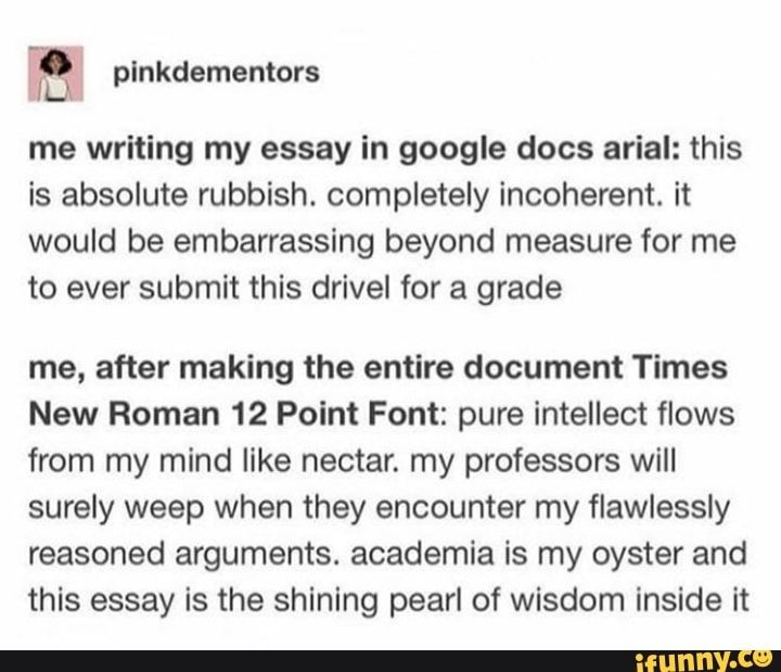Arial or times new roman for dissertation