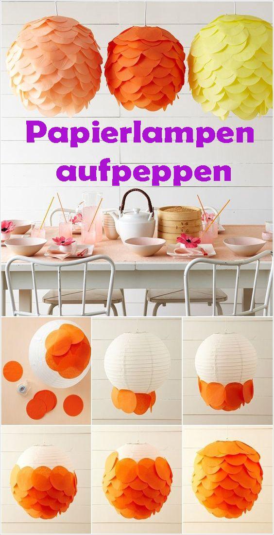 Papierlampe gestalten kostenlose DIY Anleitung