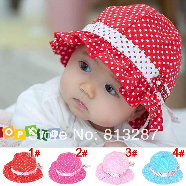 62da37ba CUTE BABY GIRLS SUN FLORAL PEARL COTTON LACE KIDS SUNNY Day HATS ...