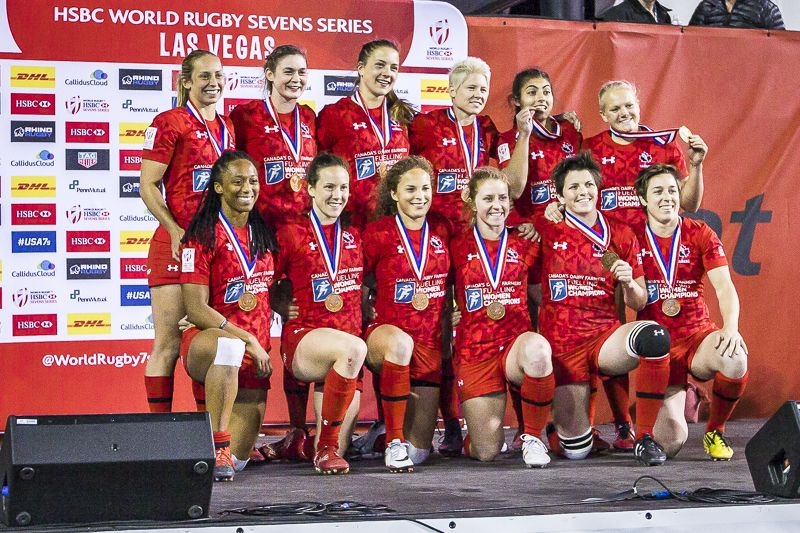 Canadian Women S Rugby 7 S Win Bowl Title In Las Vegas Isn Rugby 7 S Rugby Womens Rugby