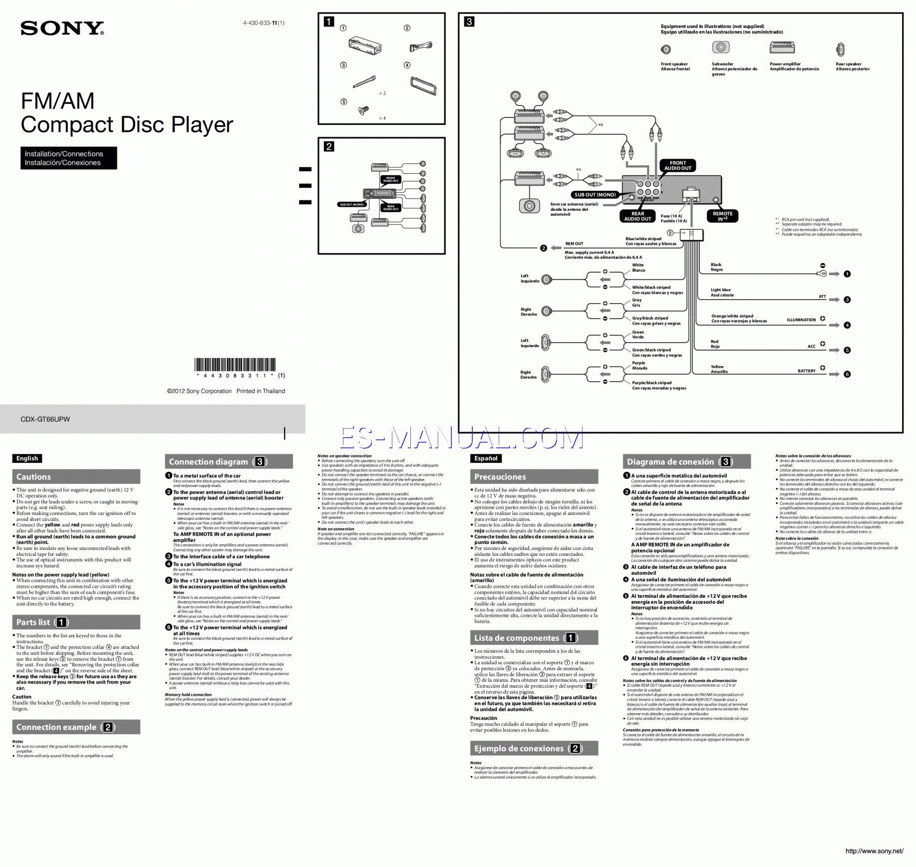 12 Sony Xplod Wiring Diagram Electrical Wiring Diagram Sony Xplod Diagram
