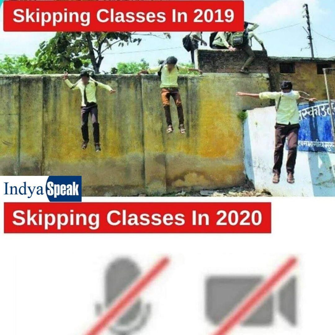 Skipping Classes In 2019 Vs 2020 Funny Kid Memes Really Funny Memes Crazy Funny Memes