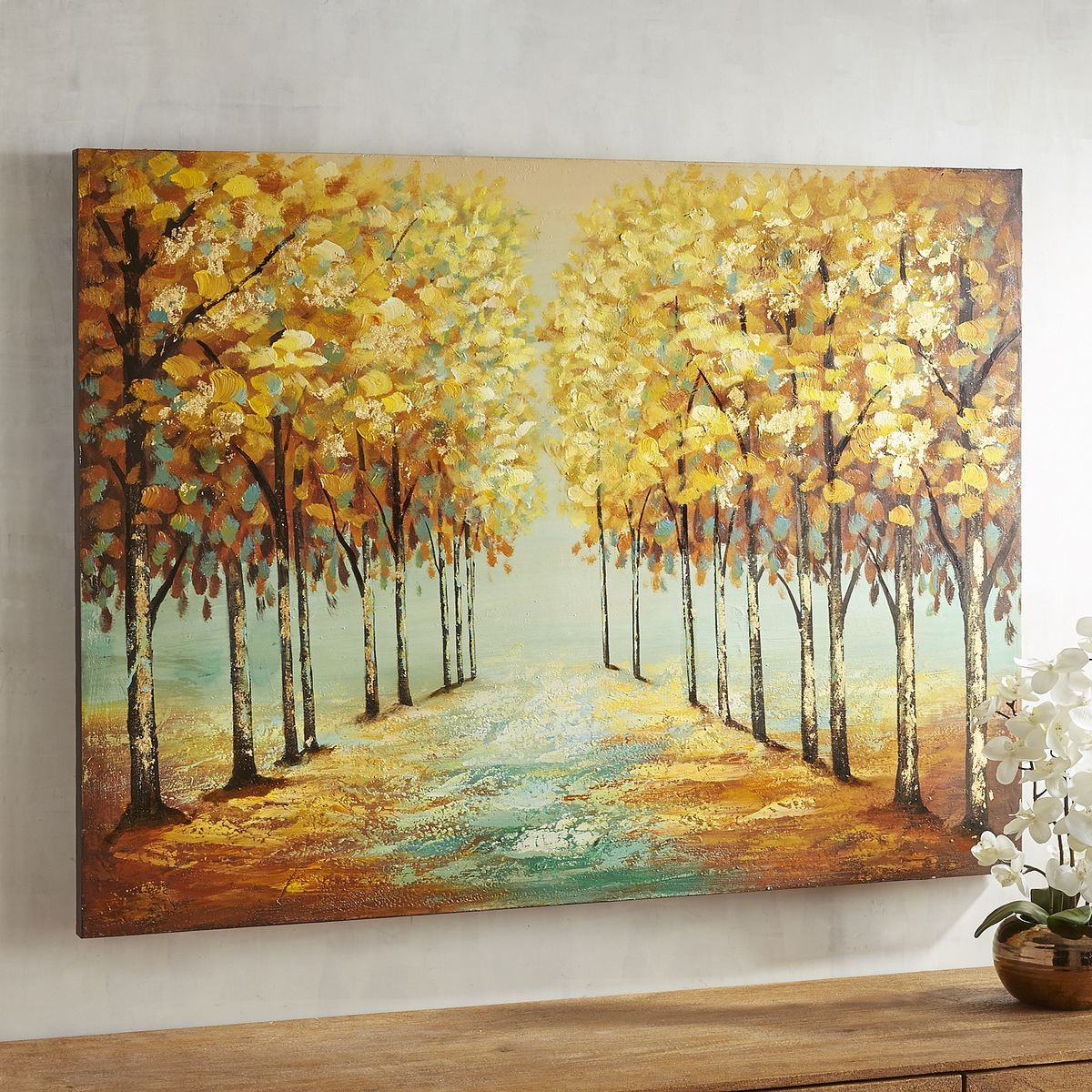 Harvest nature brown tree art pier 1 imports nature