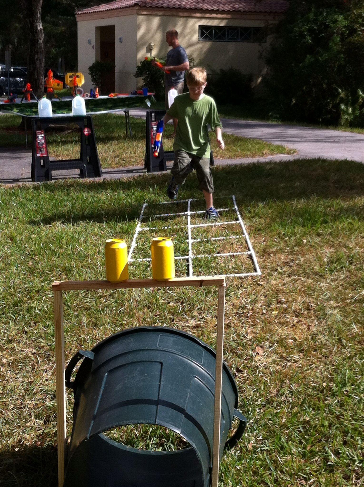 Pin On Nerf Wars Nerf Gun Birthday Party Backyard diy nerf war course