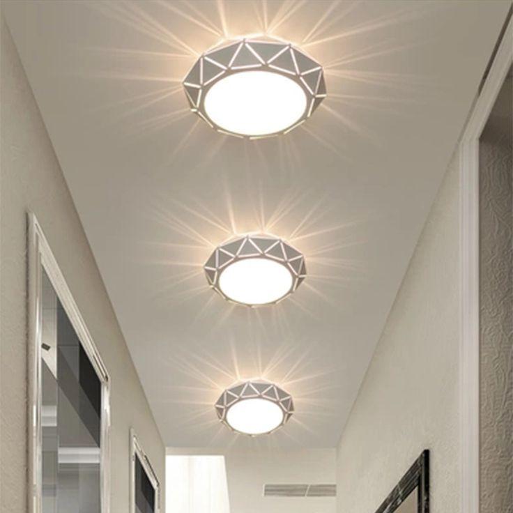 Elegante LED 12 Watt Decken Wand Leuchte Wohnzimmer Beleuchtung Flur Lampe Licht