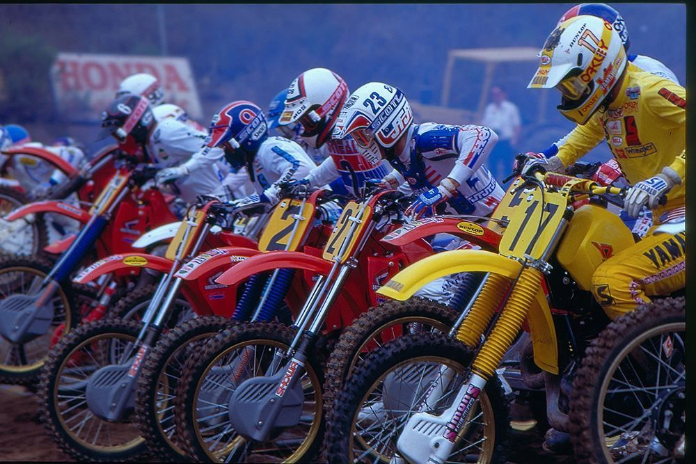 1984 500 USGP   Motocross, Open face helmets, Vintage racing