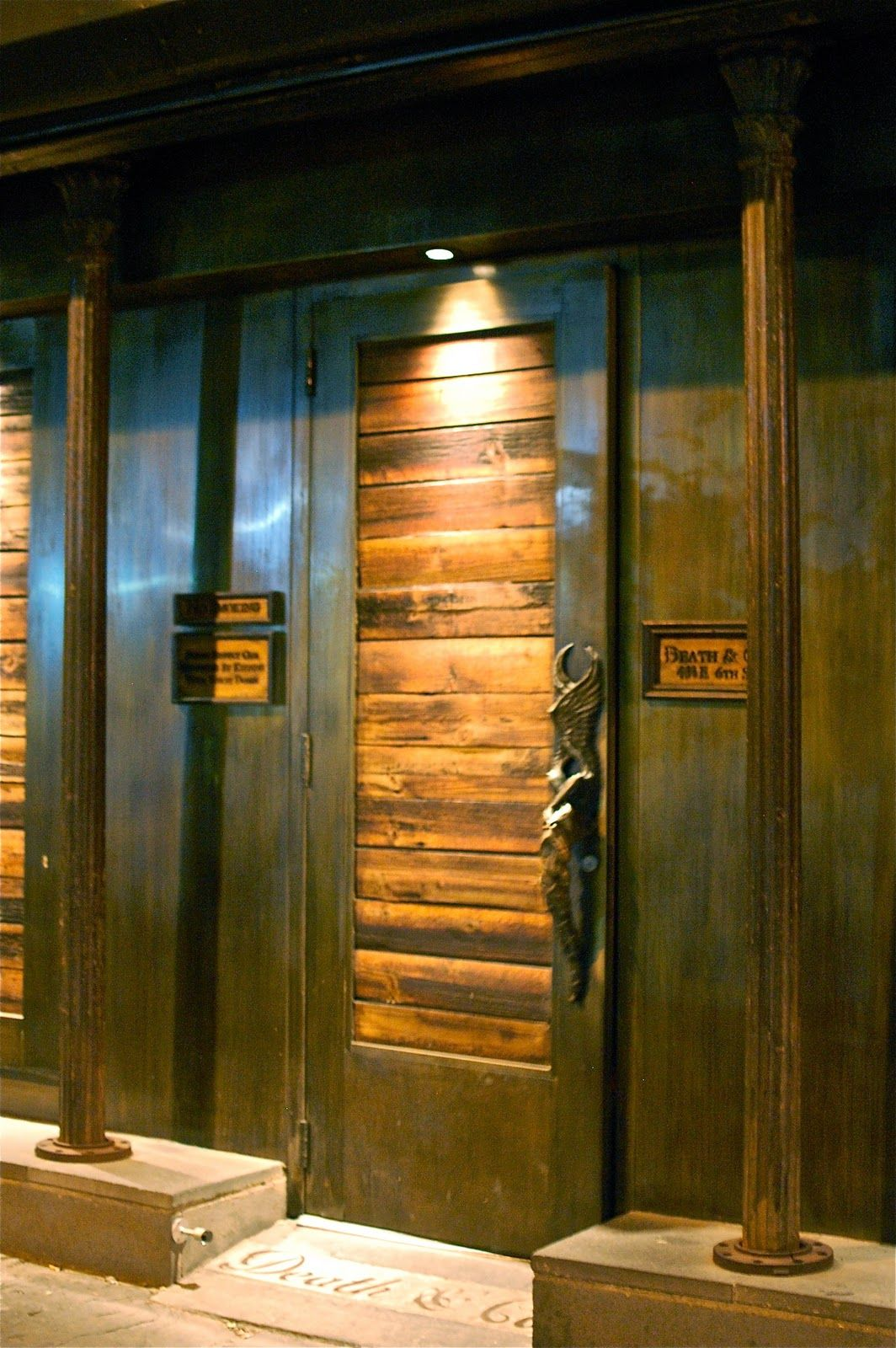 The entrance to Death & Co stranger bar Pinterest