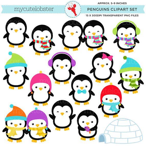 penguins clipart set clip art set of penguins winter penguins rh pinterest co uk winter wonderland border clipart winter wonderland border clipart