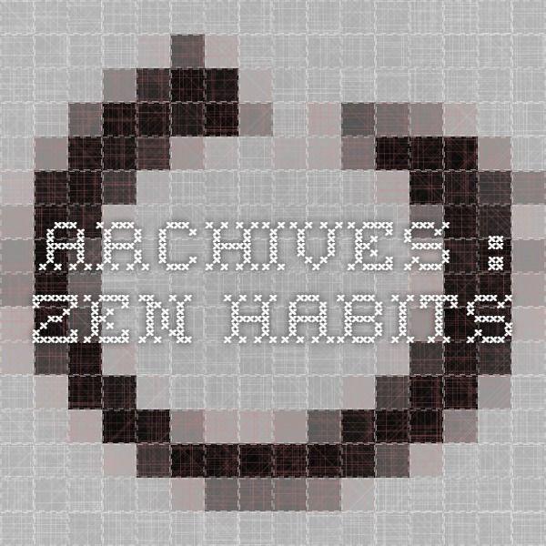 Archives : zen habits