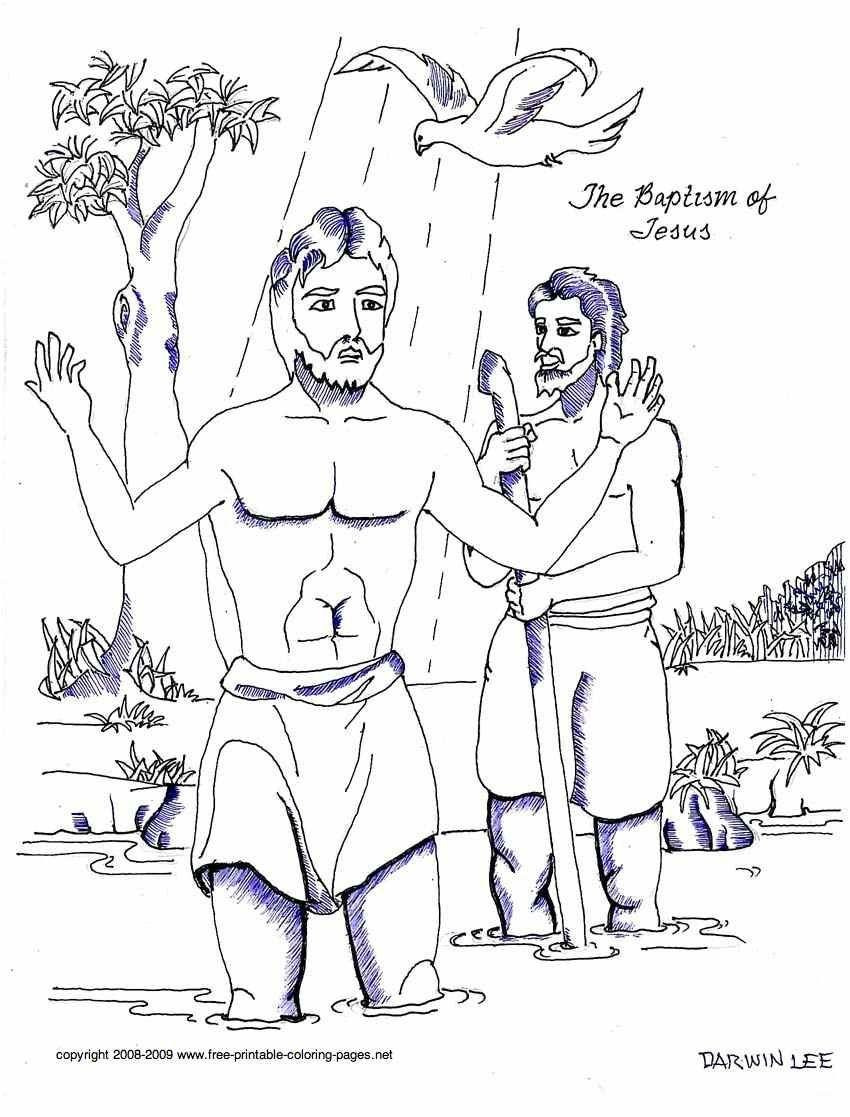 Amazing Baptism Of Jesus Coloring Page 55 The Cute in addition